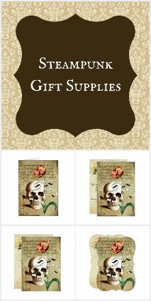 Steampunk Gift Wrapping Supplies