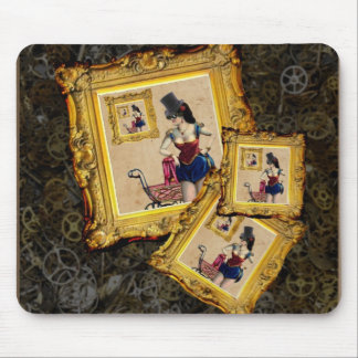 Steampunk gifts and accessories - lady,pram,frames mouse pad