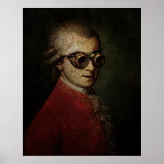 Steampunk gigante Mozart Póster