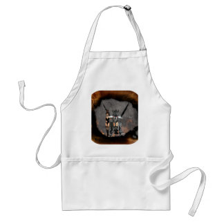 STEAMPUNK GIRL AND STEAM DRAGON BURN IT UP APRONS