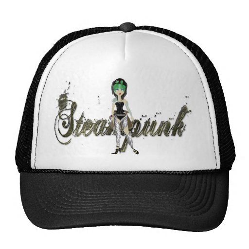 Steampunk Girl Art Design Trucker Hat