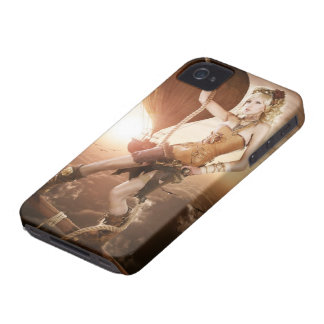 Steampunk Girl Case-Mate iPhone 4 Cases