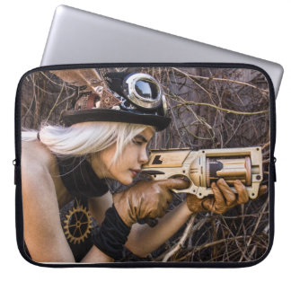 Steampunk Girl Laptop Cover