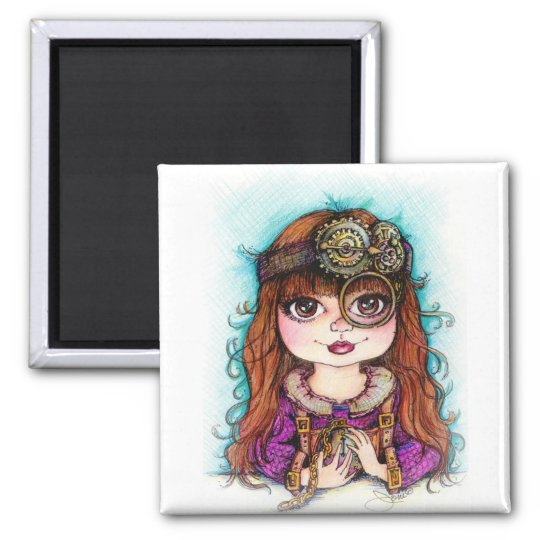 STEAMPUNK Girl Magnet