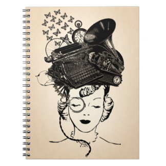 Steampunk Girl Note Book