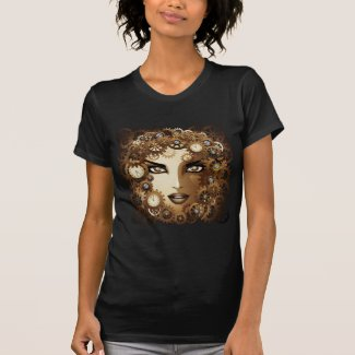 Steampunk Girl Portrait T-Shirt