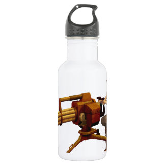 Steampunk Girl with Gun 18oz Water Bottle