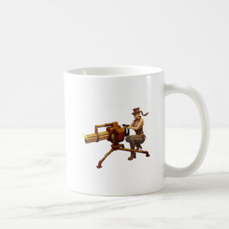Steampunk Girl with Gun Classic White Coffee Mug