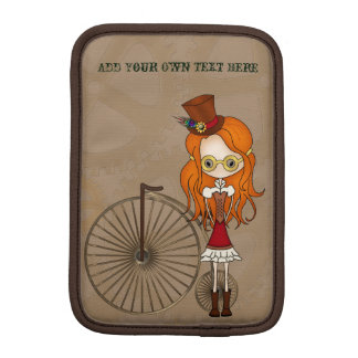 Steampunk Girls with Penny Farthing & Butterfly Sleeve For iPad Mini