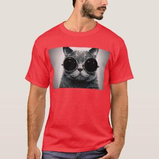 steampunk glasses cool cat T-Shirt
