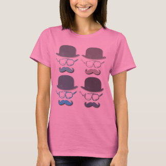 Steampunk Goggles, Hats and Mustaches T-Shirt