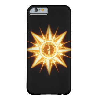 Steampunk Gold Compass Rose Altered Light Barely There iPhone 6 Case