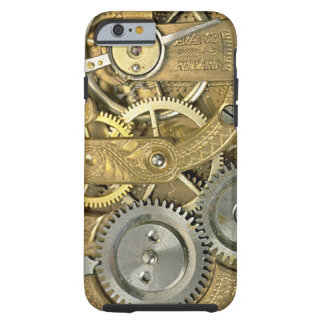 Steampunk Gold Watch Pattern iPhone 6 Cover Tough iPhone 6 Case