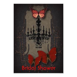 steampunk goth butterfly paris vintage chandelier invitation