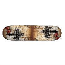 steampunk goth butterfly paris vintage chandelier skateboard
