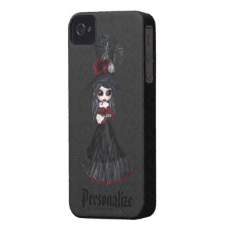 Steampunk Goth Girl Personalized iPhone 4 Case