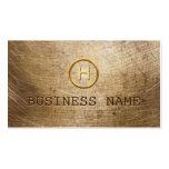 Steampunk Grunge Gold Monogram Business Card