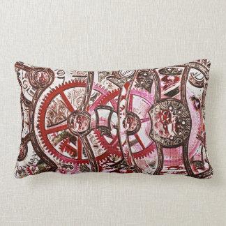 Steampunk, grunge pillow top