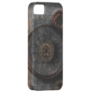 Steampunk Grungy Metal Textured Clock & Lock iPhone SE/5/5s Case