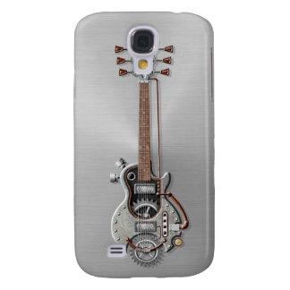 Steampunk Guitar on Steel Galaxy S4 Case