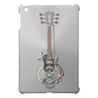 Steampunk Guitar on Steel iPad Mini Case