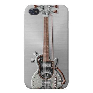 Steampunk Guitar on Steel iPhone 4/4S Case