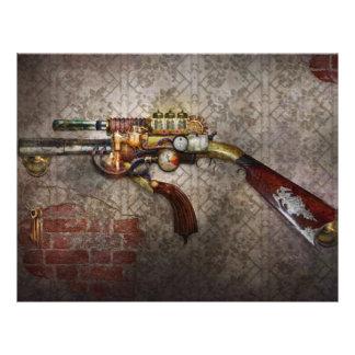 "Steampunk - Gun - The sidearm 8.5"" X 11"" Flyer"