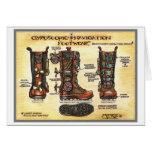 Steampunk Gyroscopic Navigation Footwear note card