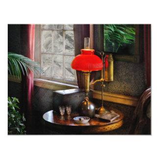 SteamPunk - habitación del Victorian Invitaciones Personalizada