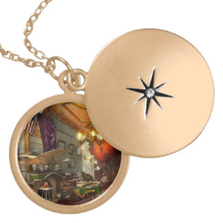 Steampunk - Hall of wonderment 1908 Gold Plated Necklace
