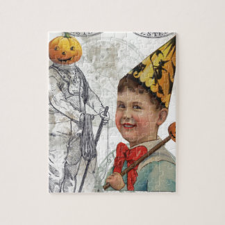 Steampunk Halloween Jack O Latern Diver Jigsaw Puzzle