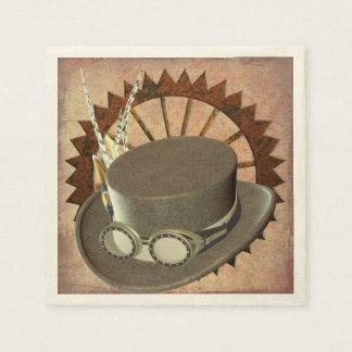 Steampunk Hat & Gear Napkins