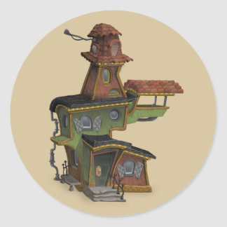 steampunk haunted house stickers