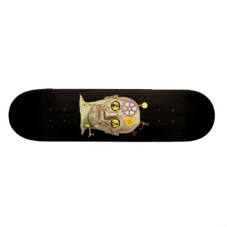 Steampunk Head Design Skate Boards