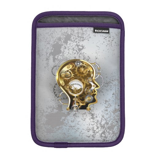 Steampunk head with manometer iPad mini sleeve