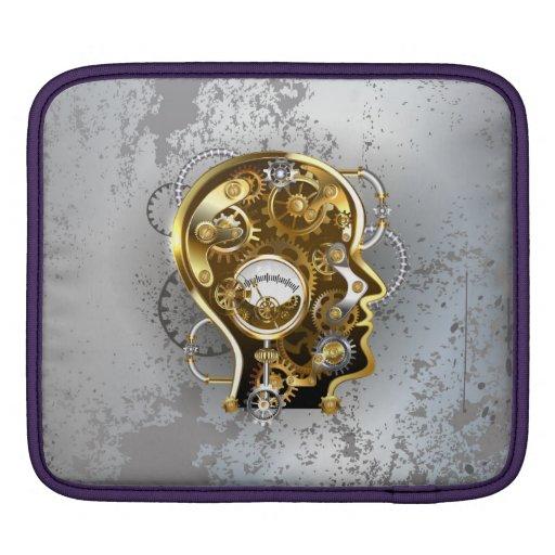 Steampunk head with manometer iPad sleeve