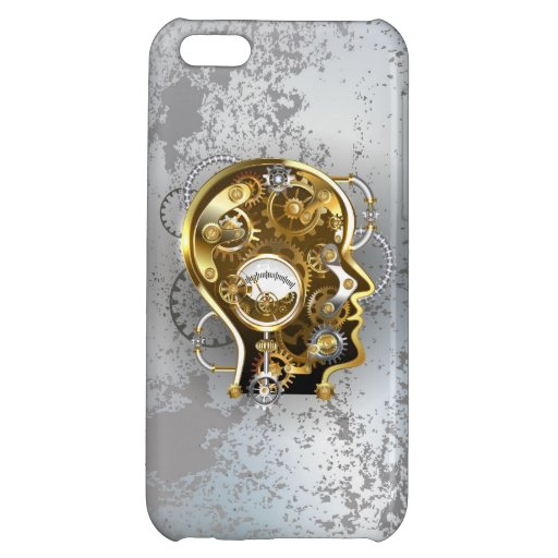 Steampunk head with manometer case for iPhone 5C