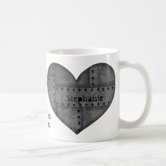 Steampunk heart for lovers coffee mugs