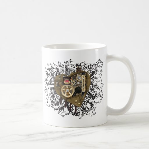 Steampunk Heart Love Classic White Coffee Mug