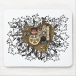 Steampunk Heart Love Mouse Pad