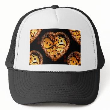 Halloween Themed steampunk heart trucker hat