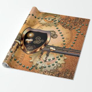 Steampunk hermoso papel de regalo