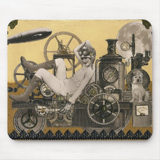 Steampunk Heroine Mouse Pad