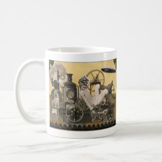 Steampunk Heroine mug