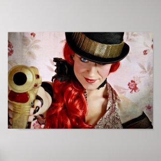 Steampunk Heroine Poster