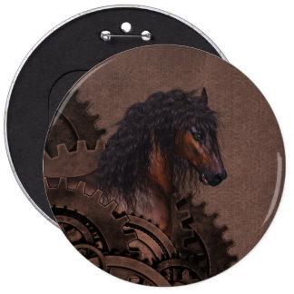 Steampunk Horse Button