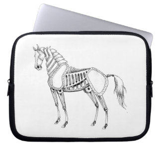 Steampunk Horse Laptop Case Computer Sleeve