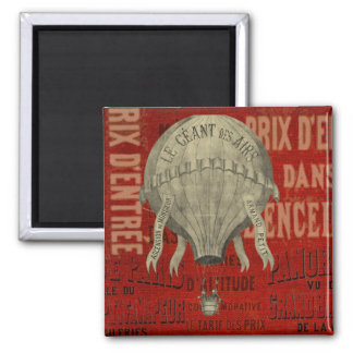 Steampunk Hot Air Ballon Ride Graphic Fonts in Red Magnet