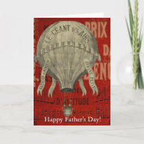 Steampunk Hot Air Ballon Ride Happy Father's Day