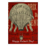 Steampunk Hot Air Ballon Ride Happy Father's Day Card
